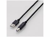 1.5m [USB A-Bタイプ] USB2.0やわらかケーブル (ブラック) U2C-BY15BK