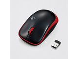 ワイヤレスIR LEDマウス[2.4GHz・USB・Mac/Win] M-IR07DRシリーズ (3ボタン・レッド) M-IR07DRRD