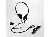USBヘッドセット(両耳小型オーバーヘッドタイプ) HS-HP27UBK