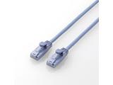 カテゴリー6対応 やわらかLANケーブル (爪折れ防止・ブルー・0.5m) LD-C6YT/BU05