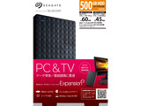 【在庫限り】 SGP-NY005UBK(ブラック) ポータブルHDD [USB3.0/2.0・500GB・Win/Mac] SGP-NYUシリーズ