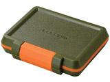 SD/microSDカードケース(耐衝撃)(カーキ)CMC-SDCHD01GN