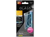 Xperia XZs / Xperia XZ用 液晶保護フィルム ガラス フルカバーフレーム ブラック PM-XXZSFLGPTRBK
