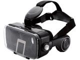 P-VRGEH01BK(ブラック)  スマートフォン用[4.0〜6.0インチ] VRグラス ヘッドホン一体型タイプ