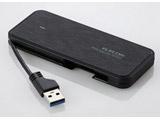 【在庫限り】 ESD-EC0120GBK(ブラック) 外付けポータブルSSD [USB 3.1・2.0/120GB] ケーブル収納対応