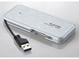 【在庫限り】 ESD-EC0120GWH(ホワイト) 外付けポータブルSSD [USB 3.1・2.0/120GB] ケーブル収納対応