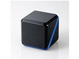 ASP-SMP220BBK (3.5φモバイルスピーカー/300mW/2ch/メタルブラック×ブルー)