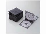 CD/DVD/Blu-ray対応収納ケース (4枚収納×5セット・クリアブラック) CCD-JSCNQ5CBK