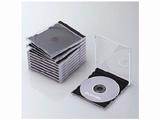 CD/DVD/Blu-ray対応収納ケース (1枚収納×10セット・ブラック) CCD-JSCN10BK