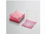 CD/DVD/Blu-ray対応収納スリムケース (1枚収納×10セット・クリアピンク) CCD-JSCS10CPN