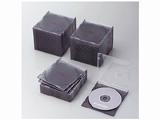 CD/DVD/Blu-ray対応収納スリムケース (1枚収納×50セット・クリアブラック) CCD-JSCS50CBK