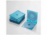 CD/DVD/Blu-ray対応収納スリムケース (2枚収納×10セット・クリアブルー) CCD-JSCSW10CBU