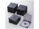 CD/DVD/Blu-ray対応収納スリムケース (2枚収納×50セット・クリアブラック) CCD-JSCSW50CBK
