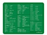 マウスパッド Office Excel向けショートカットキー一覧付 (グリーン) MP-SCE