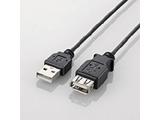 U2C-EXN25BK(極細USB2.0延長ケーブル/2.5m/A-A延長タイプ/ブラック) [EU RoHS指令準拠]