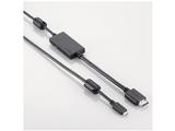 スマートフォン用[MHL対応・USB microB] MHL変換ケーブル (2.0m・ブラック) DH-MHL3HD20BK