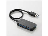 【Surface対応】USB3.0ハブ[バスパワー] Windowsタブレット向け (4ポート・ブラック) U3HA-411BBK