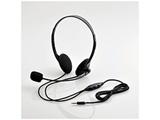 HSHP22TBK  4極ヘッドセットマイクロフォン/両耳オーバーヘッド/1.8m