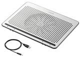 ノートPC用クーラー [USB接続] 角度調節・強冷タイプ(15.4〜17型対応・シルバー) SX-CL22LSV