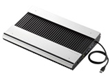 【在庫限り】 ノートPC用クーラー [USB接続(USBハブ搭載)] 高耐久性・極冷タイプ(15.4〜17型対応・シルバー/ブラック) SX-CL24LBK