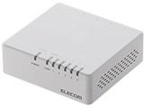 スイッチングハブ[5ポート・100/10Mbps・ACアダプタ] プラスチック筐体 EHC-F0XPAシリーズ ホワイト EHC-F05PA-W