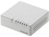 スイッチングハブ[5ポート・100/10Mbps・ACアダプタ] プラスチック筐体 EHC-F0XPAシリーズ ホワイト EHC-F05PA-JW