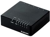スイッチングハブ[5ポート・100/10Mbps・ACアダプタ] プラスチック筐体 EHC-F0XPAシリーズ ブラック EHC-F05PA-JB