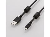 U2C-AMBF2U08BK フェライトコア付2A対応USB-microBケーブル(0.8m/ブラック)