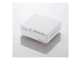 スイッチングハブ(5ポート・Gigabit対応・ACアダプタ) エコ省電力タイプ (ホワイト) EHC-G05PA-W-K