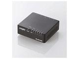 スイッチングハブ(5ポート・Gigabit対応・ACアダプタ) エコ省電力タイプ・マグネット付 (ブラック) EHC-G05PA-JB-K