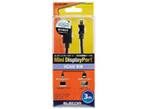 3.0m[Mini DisplayPort ⇔ HDMI]ケーブル AD-MDPHDMIBKシリーズ ブラック AD-MDPHDMI30BK