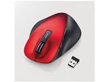 M-XGL10DBRD ワイヤレスマウス(BlueLED/2.4GHz/USB/5ボタン/レッド) [無線マウス・ブルーLED方式]