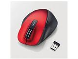 ワイヤレスマウス[BlueLED・2.4 GHz USB・Mac/Win] EX-G M-XGM10DBシリーズ Mサイズ(5ボタン・レッド)  M-XGM10DBRD