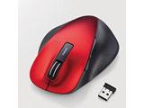 M-XGL10DBSRD 静音EX-G ワイヤレスマウス(BlueLED/2.4GHz/USB/5ボタン/Lサイズ/レッド/PS5対応) [無線マウス・ブルーLED方式]