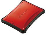 ELP-ZS010URD(レッド) ポータブルハードディスク ZEROSHOCK [USB3.0/2.0・1TB・Win/Mac] ELP-ZSUシリーズ
