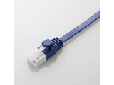 LD-GFAT/BM20 カテゴリ6A対応 ツメ折れ防止フラットLANケーブル (2.0m/ブルーメタリック)