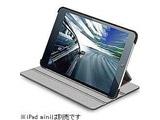 TB-A12SPLF2BK iPad mini用 ソフトレザーカバー(4段階調整スタンドタイプ/ブラック)
