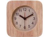不二貿易 置時計 ウッド スクエア NA 36696