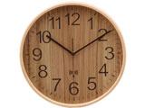 電波掛時計 プライウッド Φ28cm NA 85350