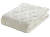 【ベッドパッド】クランフォレスト羊毛ベッドパッド(ワイドダブルサイズ/154×195cm/キナリ)