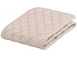 【ベッドパッド】グッドスリーププラス 羊毛パッド(クィーンサイズ/170×195cm/ベージュ)
