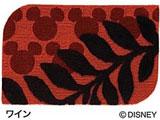 玄関マット ミッキー/ローレル(50×80cm/ワイン)【日本製】 【日本製】