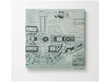 【在庫限り】 ファブリックパネル スター・ウォーズ ミレニアム・ファルコン(41×41cm/グリーン)【日本製】
