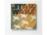 【在庫限り】 ファブリックパネル スター・ウォーズ X-WING(41×41cm/ブラウン)【日本製】