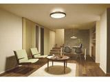 LED間接光シーリングライト DXL-81382 ウォールナット色 [12畳 /昼光色〜電球色 /リモコン付き]