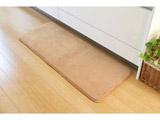 キッチンマット 低反発 快適さらり(45×60cm/ベージュ) 3408609