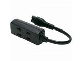 ACTAPM3 ACアダプター用電源タップ(2P/3個口/10cm/ブラック)