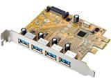USB 3.1 Gen 1(USB 3.0)/2.0インターフェイスボード US3-4PEXR