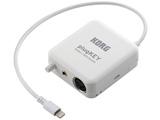 モバイルMIDI+オーディオ・インターフェイス(ホワイト) plugKEY WH