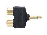 オーディオ変換プラグ(ステレオミニ⇔RCA×2) AT5204CS